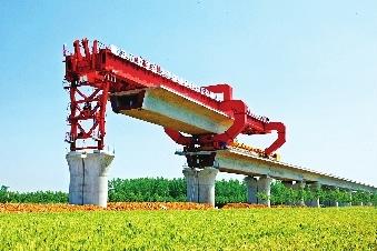 轨道板上,标志着京沪高速铁路铺轨正式启动.   京沪高速铁路